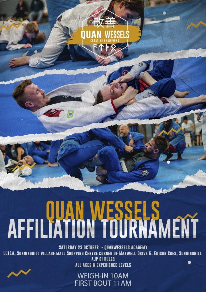 Poster for QuanWessels Association BJJ tournament